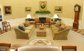 revamped the new look oval office also features modern lamps and office style carpet oval office inspirational