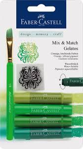 Faber-Castell <b>Восковые мелки</b> Gelatos цвет зеленый 4 шт. Купить ...