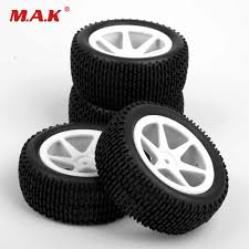 <b>RC</b> Car Model Toy Accessories 4Pcs <b>Set</b> Front Rear Tyre Rubber ...