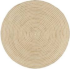 Decor <b>Rugs Handmade Rug Jute</b> with Spiral Print <b>White</b>: Amazon.co ...