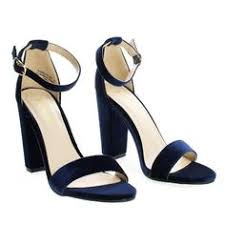 Rampage04s NavyVel <b>classic high heel</b> dress <b>sandal</b> w ankle strap ...