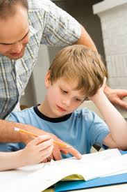 Old Dogs  New Math  Homework Help for Puzzled Parents  NYMetroParents  father tries to help son with homework  math homework