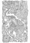 Раскраски антистресс распечатать слон