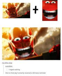 "Happy Colossal Titan | McDonald's ""Happy"" Mascot | Know Your Meme via Relatably.com"