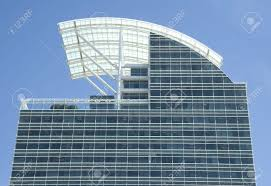 a modern office building of blue glass with a curved retractable roof stock photo 2746811 blue glass top modern office