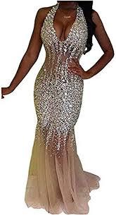 Nina Ding 2019 Mermaid Prom Dresses for Women Beaded <b>Luxury</b> ...