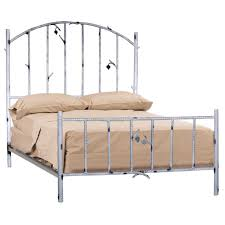 white polished twig rod iron bed using light brown bed linen and pillowcase with retro metal bedroom endearing rod iron