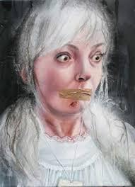 Traumschiff Malerei: Sven Kroner, Andrea Lehmann, Simone Lucas, Jan Meier, Miriam Vlaming, Manuela Wossowski im Museum Ratingen - Andrea-Lehmann-caught-ghost