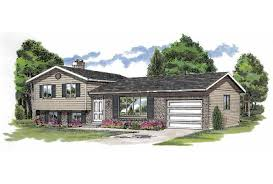 Eplans Split Level House Plan   Simple Design With Efficient Uses    Front