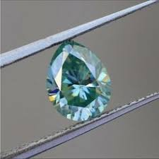 <b>Loose moissanite</b> Pear cut, Vivid blue color moissanite, <b>2.5ct</b>(10.50 ...