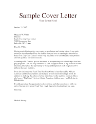 child care cover letters template child care cover letters