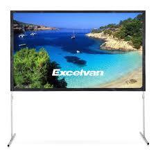 <b>Excelvan 4K Ultra</b> HD Movie Theater Fast-Fold Projector Screen 100 ...