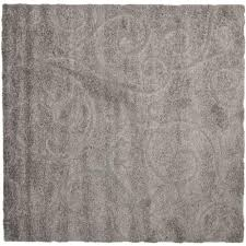 florida shag grey 4 ft x 4 ft square area rug california shag black 4 ft