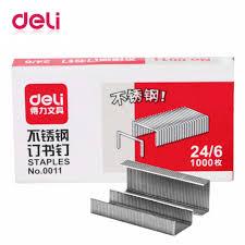 <b>Deli staples</b> 1000 pcs/box 24/6 7*3.7*1.5 cm office <b>Staples</b> for Stapler