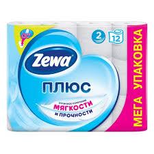 <b>Туалетная бумага ZEWA ПЛЮС</b> БЕЛАЯ 2-слойная, 12 рулонов ...
