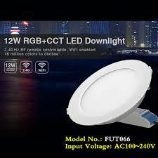 Dimmable Recessed <b>LED Ceiling</b> Panel <b>Light Mi Light</b> RGB CCT ...