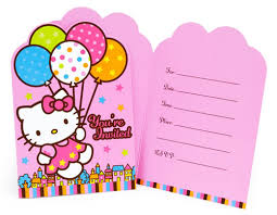 Birthday Party Invitation Template | BagVania Invitations Ideas ... Hello Kitty Birthday Party Invitation Template KID16
