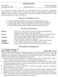 database administrator resume example it resume examples