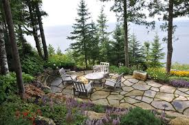 flagstone patio patio beach style amazing ideas with outdoor room purple flowers beach style patio furniture