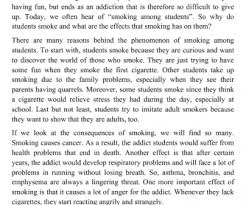 effect of smoking essay  compucenter cothe causes and effects of smoking among students