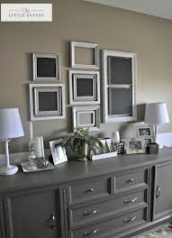 really like the double hung frames and the blackboard frames on each end center bedroom furniture painted