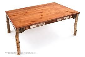 adirondack dining table bark furniture