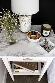ideas bedside tables pinterest night: this ikea nightstand used a marble self adhesive paper to get that real marble look for a fraction of the price of a real marble nightstand