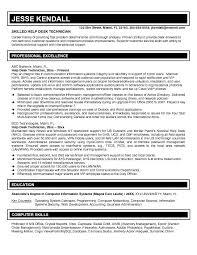 Help Desk Specialist Resume Free Resume Templates