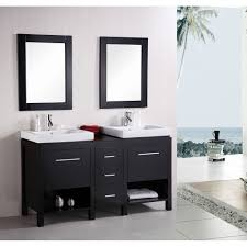bathroom vanity 60 inch: design element new york  inch double sink contemporary bathroom vanity