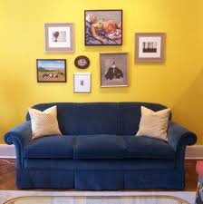 furniture furniture brown cushion idea on elegant blue sofas ikea design with having bright yellow wall paint color background also art paintings decor bright yellow sofa living
