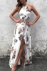 Casual Fashion Bateau Off Shoulder Floral Print Dress | Products