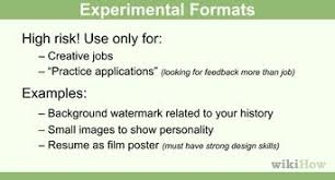 how to make a resume    free sample resumes    wikihowwrite a neat resume