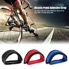 (COD) <b>1pc</b> Nylon <b>Bicycle Pedal</b> Adhesive Strap Fixed Gear <b>Bike</b> Toe ...