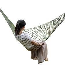 <b>Portable Nylon Mesh Hammock</b> Sleeping Bed For Outdoor Travel ...