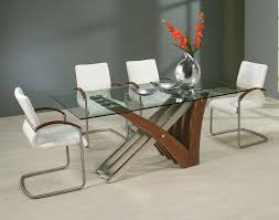 stylish brilliant dining room glass table:  stylish dining room cool designer glass dining tables modern office for glass dining room tables