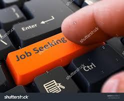 job seeking orange button finger pushing stock illustration job seeking orange button finger pushing button of black computer keyboard blurred background