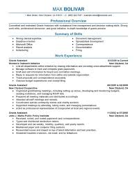 exceptional resume examples   professional administrative resume    perfect administrative assistant resume
