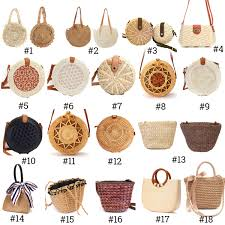 <b>2019 Women</b> Vintage Beach <b>Straw</b> Bag Ladies Handmade <b>Woven</b> ...