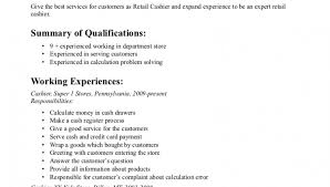 skills for cashier resumes   zimku resume   the appetizer b and m retail resume s lewesmr