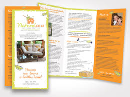 forgreen naturalcare cleaning service rack brochure design