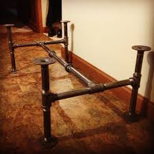 pipes industrial and coffee table base on pinterest black steel pipe furniture