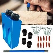 38PCS Woodworking <b>Drilling</b> Locator Guide <b>Wood Dowel Hole</b> ...
