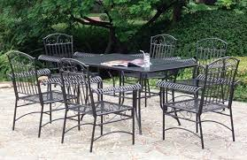 patio table and 6 chairs:  black wrought iron patio furniture with rectangle patio table and  person patio chairs