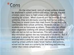 school uniform essay school uniforms should be abolished