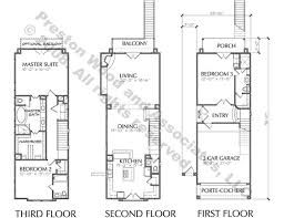 Townhomes  Townhouse Floor Plans  Urban Row House Plan DesignersTownhome Plan D