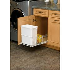 Kitchen Cabinet Garbage Drawer Under Cabinet Trash Can Pull Out Roselawnlutheran