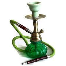 hookah vintage brass stem emerald green glass bottle ceramic bowl alice in alice in wonderland inspired furniture