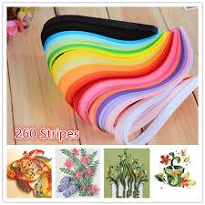 <b>260pcs</b> 26 Colors Paper DIY Quilling Paper | Shopee Singapore