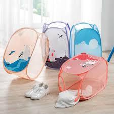 Lovely <b>Foldable cartoon large capacity</b> laundry hamper storage ...