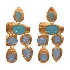 2019 Boho Golden Big Dangle Earrings Women Crystal Bead ...